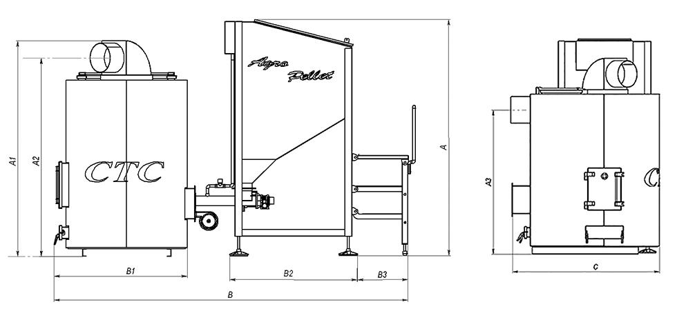 Устройство и размеры теплогенератора